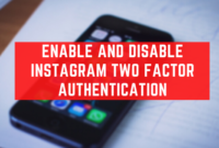 Enable And Disable Instagram Two Factor Authentication